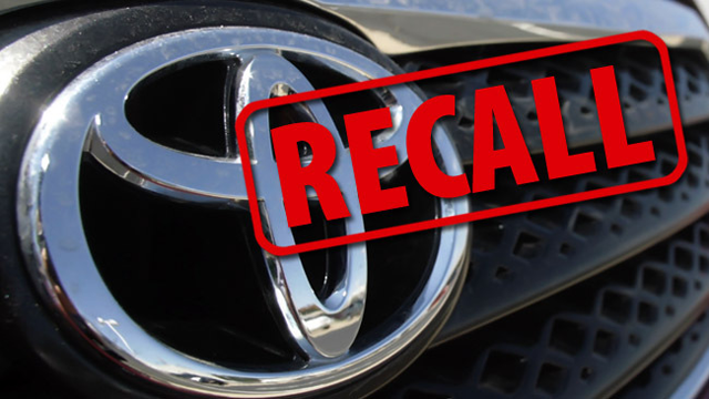 Toyota Recalls Cars Due To Faulty Ejection Seats