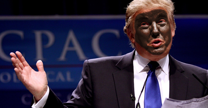trump black face