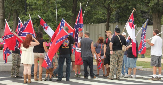 confederate crowd