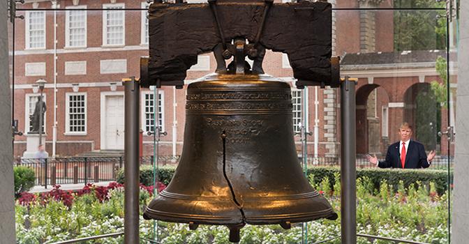 trump liberty bell